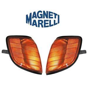 For Mercedes W140 300SD S420 Pair Set of 2 Turn Signal Assemblies Headlights OEM