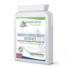 GREEN COFFEE BEAN EXTRACT 5000mg X 90 Capsules 50% Chlorogenic Acid Weight Loss