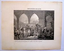 Lithographie, XIXe, Napoléon, Pestiférés de Jaffa