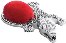 MARCASITE AND GARNET SET ALLIGATOR PIN CUSHION STERLING SILVER FROM ARI D NORMAN