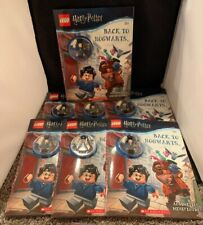 Lot Of 7 LEGO Harry Potter: Back to Hogwarts Activity Book + minifigures