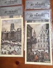 "Art Treasures Vintage 1971 8"" x 5"" Decoupage Prints Holland Scenes-2 Sets/2"