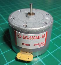 EG-530AD-2B  MOTOR CASSETTE 12V/2400RPM - CCW (sentido antihorario)