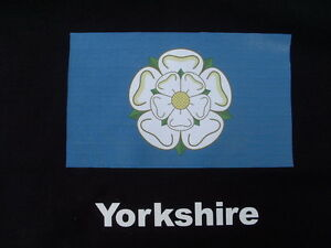 Yorkshire Flag  White Rose T-Shirts Sizes 4XL 5XL personalised Birthday Gift