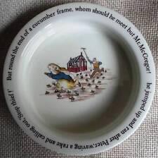 """Wedgewood England Peter Rabbit in McGregor's Garden 6.5"""" Porcelain Bowl - MINT"""
