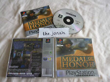 Medal of Honor PS1 (COMPLETE) war platinum Sony PlayStation rare honour