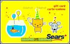 SEARS 2009 CANADA FISH TANK CAT & MOUSE CELEBRATION COLLECTIBLE GIFT CARD For Sale