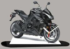 Motos miniatures noirs Kawasaki