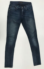 Nudie Jeans 'TIGHT LONG JOHN INDIGO ON BLACK' Jeans W24 L32 EUC RRP $249 Womens