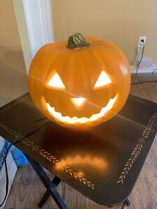 "Light Up 8"" Pumpkin Jack-o-lantern Halloween Autumn Home table top window Decor"