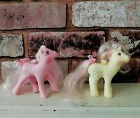 Vintage Hasbro My Little Pony Flutter Pair Honeysuckle Rose Dust 1986 Retro Toy