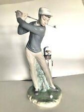 "Lladro Male Golfer - # 4824 - 11"" Golfer in Backswing - Mint cond + Original Box"