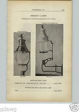 1910 PAPER AD Vintage Natural Gas Street Lamps Ornate Storm Cottage Telegraph