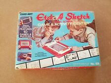 Vintage # 508 Ohio Art Etch A Sketch With Fun Cassette And Original Box