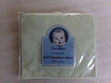 """NEW NIP Gerber Knit Green Bassinet Sheet 16x32"""" Cotton Nursery Baby Shower Gift"""
