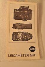 Leitz, Leicameter MR brochure, c1981, New!