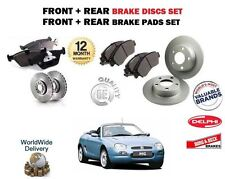 FOR ROVER MG F MGF 1.6 1.8 1995-2002 FRONT + REAR BRAKE DISCS SET + PADS KIT