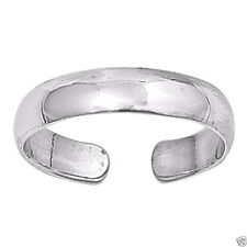 USA Seller Adjustable Plain Toe Ring Sterling Silver 925 Beach Jewelry Gift 4 mm