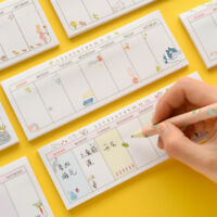 Weekly Planner Shopping List Notepads To Do List Memo Kawaii Sticky Notes Agenda