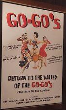 "40x60"" HUGE SUBWAY POSTER~The Go-Go's 1994 Return to Valley Of Belinda Carlisle~"