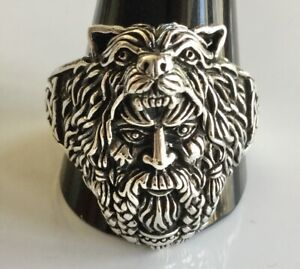 Sterling  Silver  (925)  Berserker  Viking  Warrior  Ring   !!       New  !!