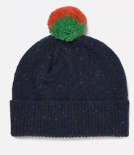 PS by Paul Smith Women's Pom Pom Wool Hat Navy Blue SCOTLAND NWT ($95 USD)