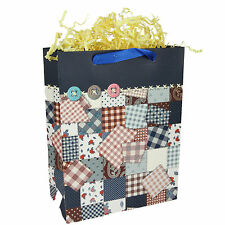 12x Paper Gift Bags w/ Handles, Checkers, Birthday Wedding Shower Party Package
