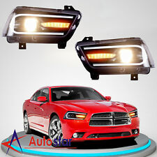 For 2011-2014 Dodge Charger Headlights LED Sequential Turn Indicator 2015 Model