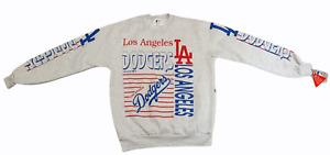 Vintage 1990s NEW w/ Tags Majestic Official MLB Sweatshirt Jumper LA Dodgers