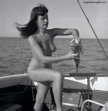 Bettie Page Original 1954 Camera Negative Bunny Yeager Nude Grouper Fishing Wow