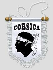 FANION VOITURE CORSE CORSICA 13 X 15 CM ECUSSON