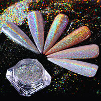 0.5g Nail Glitter Powder Holographic Nail Art Shine Holo  Chrome Pigment