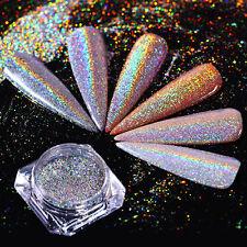 0.5g Nail Glitter Powder Holographic Nail Art Shine Holo Rainbow Chrome Pigment