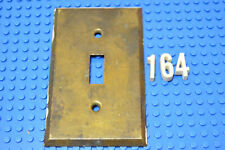 Vintage Brass Toggle Switch Plate