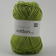 Rico Creative Cotton Aran - 100% Cotton Knitting & Crochet Yarn - Pistachio 41