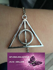 NEW HARRY POTTER DEATHLY HALLOWS SILVER PLATED BRACELET AUS SELLER (73)