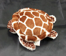 K&M Brown Cream Hawaiian Green Sea Turtle 1992 Vintage Plush Stuffed Animal Toy