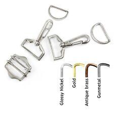 Bag Clasps Lobster + Strap Slider Adjuster + D Rings Set 25 mm - AJ4x2 ARSx2 ATQ