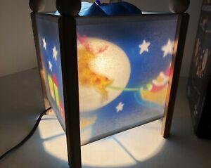 Retro Magic Spinning SANTA REINDEER Motion Lamp Lantern Night Light Projecting