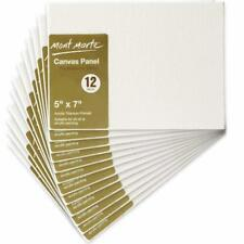 Stretched Canvas 12 Pack Lot Blank Frame Wall Art Paint Board Blank Panels 5X7