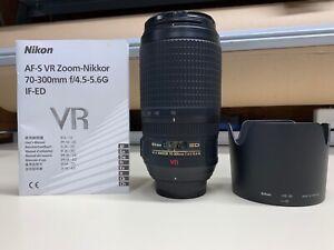 NIKON ED AF-S NIKKOR 70-300MM F/4.5-5.6 G VR LENS NICE *FULLY FUNCTIONAL*