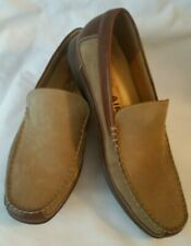 Mephisto Slip On Loafers Baduard Cool Air Tan Suede Brown Leather Shoes Size 13