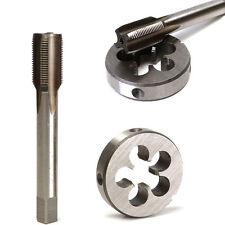 1/2-28 UNEF HSS Hand Tap Round Die Set 80x8mm Right Hand Thread Tap Cutting Tool