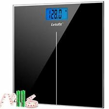 Letsfit Digital Body Weight Scale, Bathroom Scale with Large Backlit Display,