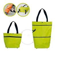New Durable Folded Shopping Trolley On Wheel Wheeled Folding Luggage Bag
