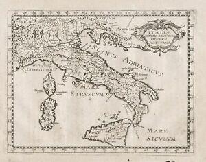 Italia Italy Sicilia Sardegna Sicily Sardinia Corsica carta map Karte Briet 1649