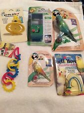 BT13 Super Pet, Penn Plax JW, Lot of 6 Small Bird Toys Enrichment Pods Rings