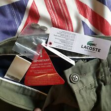 NWT Lacoste Trousers 32 X 32 Green Olive