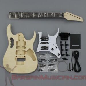 Bargain Musician - GK-026 - DIY Unfinished Project Luthier Electric Guitar Kit