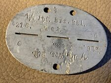 More details for original ww2 german army soldiers dog tags - 1./ inf. ers. btl. 216. - b13
